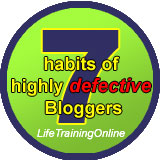 7 habits of highly defective bloggers